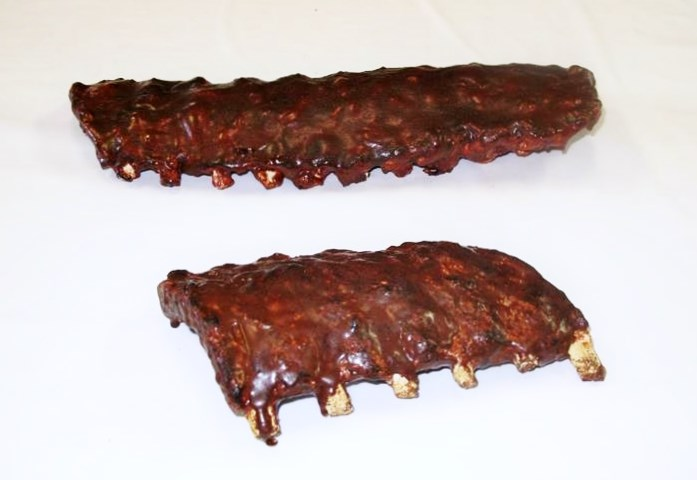 Fake Bbq Pork Rib Racks For Display Grilled Replica Baby