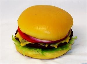 Fake hamburger, plastic cheeseburger for fake food display, replica cheeseburgers On Sale!