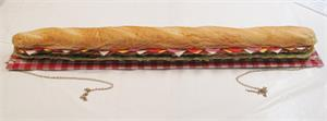 "36"" replica sub sandwich for display, fake sub sandwich for restaurant catering fake foods display."
