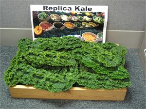 Plastic Kale for salad bar display. Artificial Kale Strips For Restaurant Salad Bar.