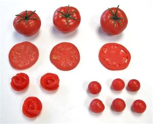 Fake tomatoes for display, Replica tomato for grocery and salad bar display.