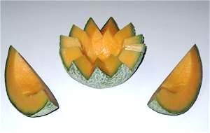 fake cantaloupe for display.
