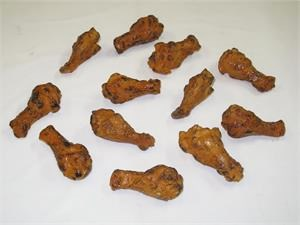 Realistic Replica Chicken Wings. Fake Chicken Wings For Display In Stock.
