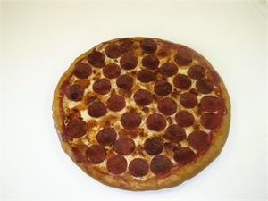 Replica Pepperoni Pizza For Display, Plastic pizza with pepperoni at Fake Foods and More.