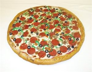 Replica Combo Pizza, Large Plastic Pizza For Display at Fake Foods and More.