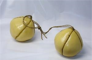 Fake Hanging Cheese For Display. Realistic provolone cheese balls for sale.
