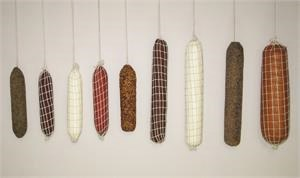 Fake Hanging Deli Meats, Fake Salami For Hanging Salami Display In Stock!