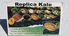 Plastic Kale for display, Realistic fake kale for salad bar display In Stock.