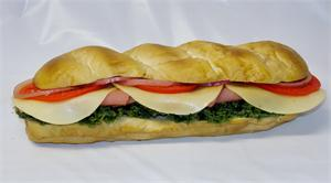 "12"" replica sub for fake foods display, plastic sub sandwich On Sale."