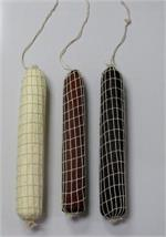 Fake Salami hanging salamis for display. Replica hanging salami meat for restaurant salami display.