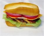 Fake sub sandwich for display, replica sub sandwich for restaurant sub catering display.